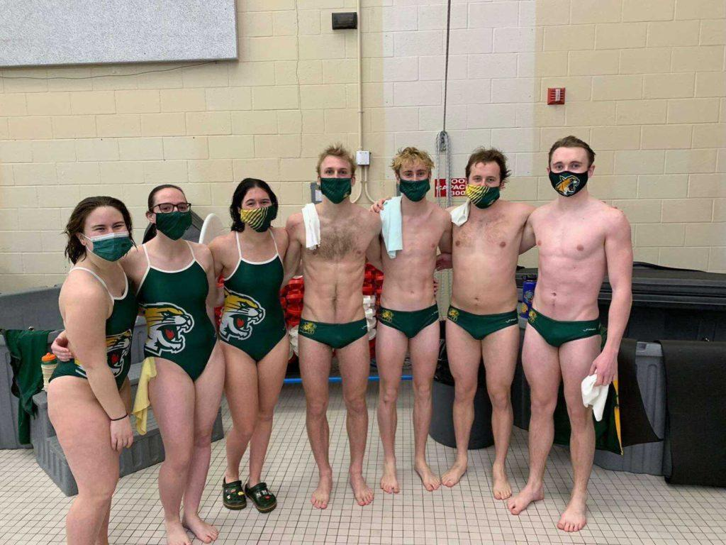 GOING FOR GLIACS—The NMU Swim and Dive team has faced obstacles this season like many other have. But now the Wildcats are competing the GLIAC Championships despite the turbulent season theyve had to overcome. Photo courtesy of Connor Dorff.