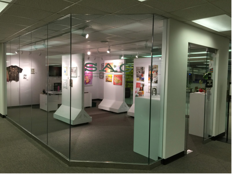 Photo of the student art gallery