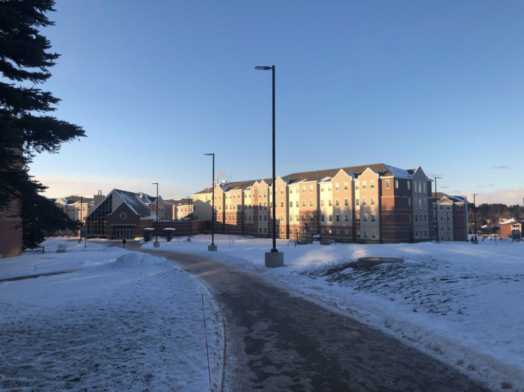 NMU+dorms+covered+in+snow