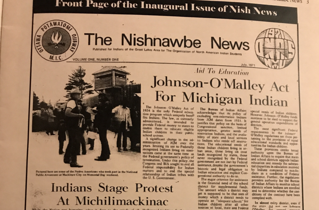 Issue from the Nishnawbe newspaper
