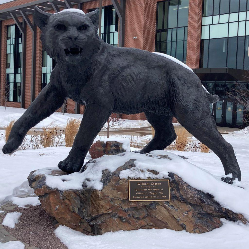 A+photo+of+the+wildcat+statue+on+NMU+campus