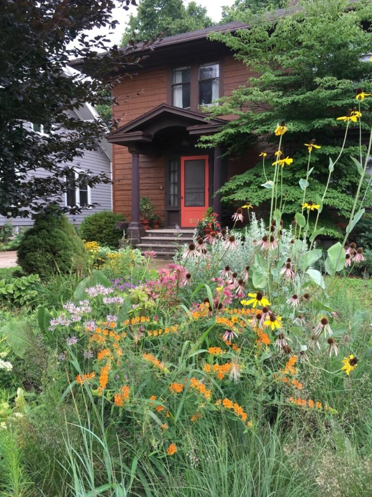 Photo courtesy of Anne Okonek  NATIVE GARDENS—To encourage the expansion of native gardens, the Central Upper Peninsula Chapter of Wild Ones is spreading the word about the important impact native gardens have. Even a small patch of native plants in your yard can make a difference.