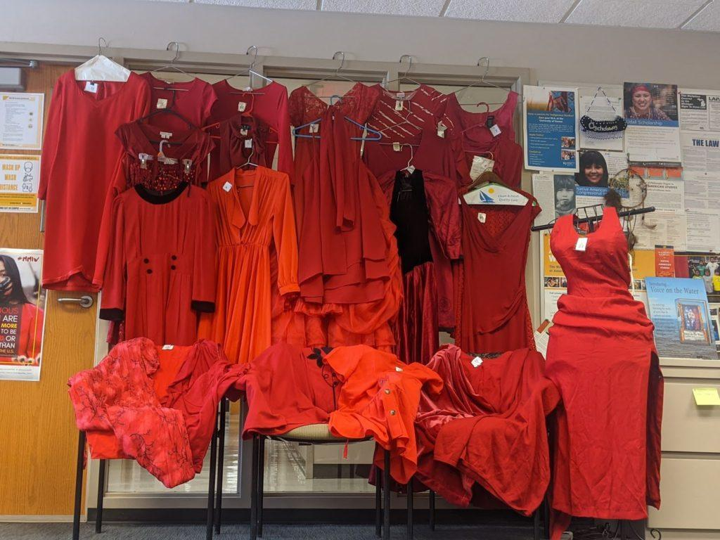 Photo courtesy of Amber Morseau  RED DRESS—The CNAS will participate in The REDress Project as part of the MMIW week. The REDress Project focuses on the  issue of missing and the murder of indigenous women.