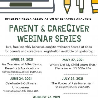 UPABA to hold caregiver webinars on behavior analysis