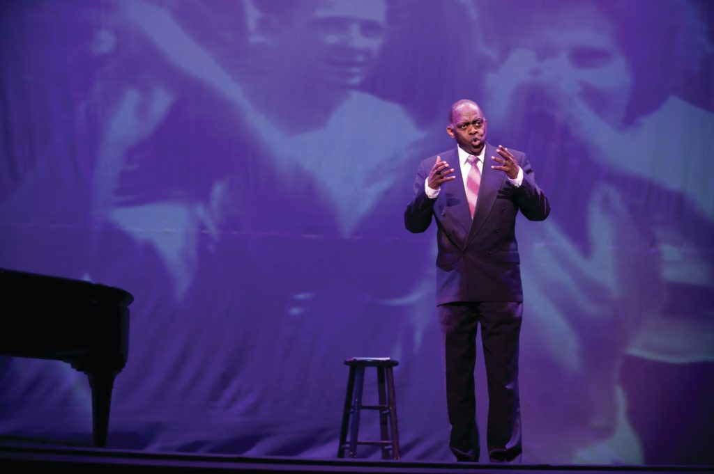 HISTORICAL HYMNS— Pictured Anthony Brown performing for the fall 2019 showcase on labor. This event is meant to observe the industries and issues the workers had when they first came to the U.P. The performance will be played at the virtual event running from April 9 to April 30.