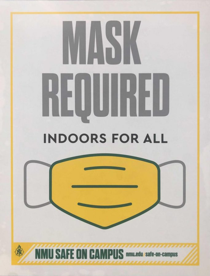 Dreyma Beronja/NW STAYING SAFE—The updated mask mandate now requires everyone on campus whether vaccinated or not to wear masks in all buildings. The updated mandate came Monday afternoon to comply with CDC recommendations.