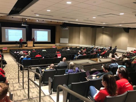 YES OR NO—NMU-AAUP union members casted their votes on Thursday to decide whether or not the executive committee would be able to call a strike. Results came Saturday with an overwhelming favor of giving the committee permission to call for a strike at 183 to 35.