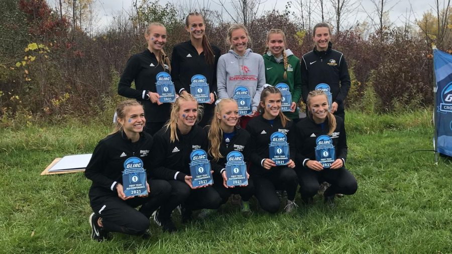 WILDCATS WIN HONORS—Madison Malon and Elise Longley earned All-GLIAC honors at the GLIAC Championships this past Saturday. NMU finished in fifth out of 11 teams. Photo courtesy of NMU Athletics